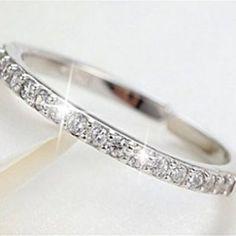 Numeis Women's Rings, Diamond and 925 Sterling Silver, Simple Adjustable Rings Jewellery Uk, Jewelry, Sterling Silver, Diamond, Simple, Bracelets, Rings, Women, Jewlery