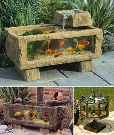 5 Outdoor Aquarium Designs that will Bring Life to Your Garden or Patio - http://www.amazinginteriordesign.com/5-outdoor-aquarium-designs-will-bring-life-garden-patio/