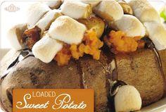 DIY Texas Roadhouse Loaded Sweet Potato! Delicious.