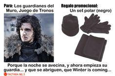 ¿Qué le regalarías a John Nieve, de Juego de Tronos (John Snow, from Game of Thrones)?