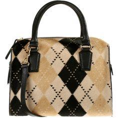 Handbag ($370) ❤ liked on Polyvore featuring bags, handbags, 2016 bag, purses, zipper purse, leather hand bags, man bag, real leather handbags and genuine leather handbags
