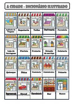 Trata-se de um dicionário ilustrado para alunos de Português, língua não materna. - Apostilas