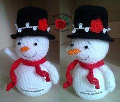 Snowman crochet patterns | craft gifts - Free pattern - http://www.kezmuves-ajandek.hu/index.php/snowman-crochet-pattern/