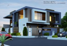 Narrow House Designs, Modern Small House Design, Bungalow House Design, House Front Design, Modern Bungalow Exterior, Modern Bungalow House, Modern House Plans, Indian House Exterior Design, House Construction Plan