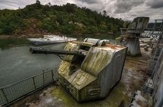 Withdrawn ghost ships at a French naval facility.