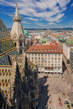 Austrian Goth, The Gothic St. Stephen's Cathedral towering over the city of Vienna.