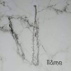 Polished quartz chip chain choker bohemian gypsy boho