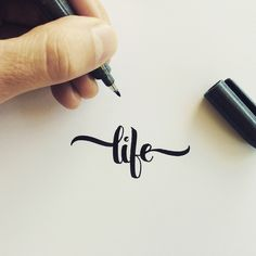 These photos showcase my brush pen calligraphy and lettering for logos and random words and sayings, posted over the past two years on Instagram.