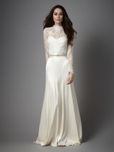 Long Lace Sleeve Wedding Dress from Catherine Deane