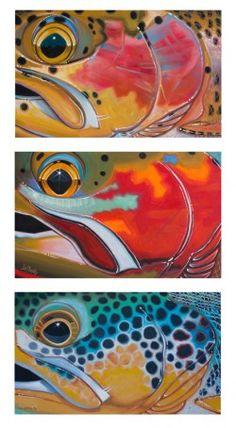 """""""Trout Trio – Bow, Cutt, Brown"""" - Derek Deyoung  #flyfishing"""