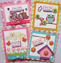Tarjetas de presentación para regalos Facebook Crafts by Iris  @craftsbyiris