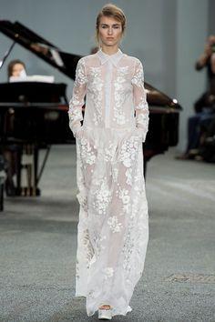 Embroidered sheer shirt dress - Erdem S/S 2014 #style #fashion #wedding #bridal