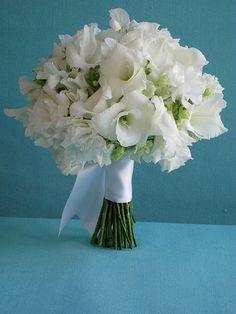 Gladioli, snapdragons & sweetpea bouquet