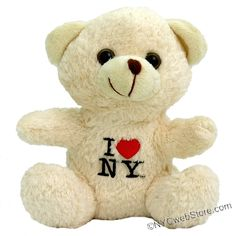 CitySouvenirs.com - I Love NY Teddy Bear, $7.99 (http://www.citysouvenirs.com/i-love-ny-teddy-bear/) I Love NY Teddy Bear  Is there anything cuter than a plush I Love NY Teddy Bears?  Each white bear is embroidered with the famous I Love NY logo.   You just can't resist these cute and soft New York teddy Bear Babies.
