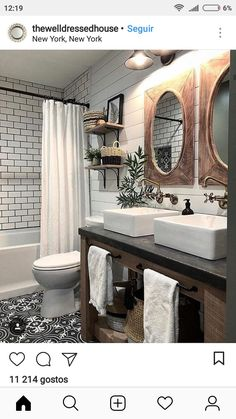 4 Far-Sighted Hacks: Affordable Bathroom Remodel Modern bathroom remodel bathtub tile.Bathroom Remodel Shower The Wall bathroom remodel traditional double sinks. Tiny Bathrooms, Beautiful Bathrooms, Modern Bathroom, Minimalist Bathroom, Modern Minimalist, Small Bathroom, Boy Bathroom, Bathroom With Double Vanity, Bathroom Interior