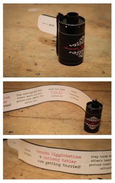 diy film canister save the dates.