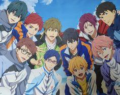 Free Anime Characters, Anime Films, Manga Art, Anime Manga, Rin Matsuoka, Makoto Tachibana, Splash Free, Free Eternal Summer, Hunter Anime