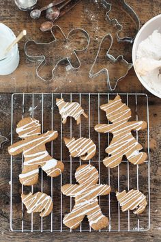 Iced Gingerbread Men and Ginger Cats {Gluten-free} - Snixy Kitchen