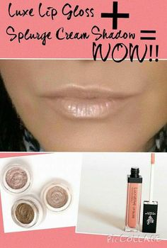 Younique's products are versatile! Our new Splurge cream eye shadow paired with our lucrative lipgloss on Luxe creates a beautiful look to pucker up to