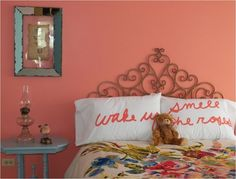 Coral in bedroom....pretty!