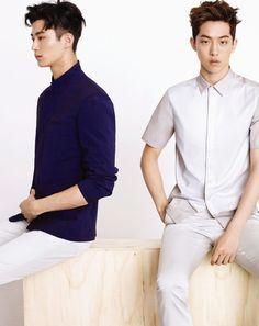 Nam Joo Hyuk and Byun Woo Seok - ELLE Korea Magazine May Issue '14 Male Models