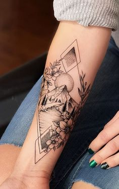 60 charming and feminine forearm tattoos to get inspired Dreieckiges Tattoos, Forarm Tattoos, Dope Tattoos, Badass Tattoos, Body Art Tattoos, Hand Tattoos, Nature Tattoos, Tatoos, Female Tattoos