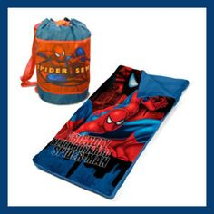 Marvel Spiderman Slumber Bag Set Convenient carry bag for easy transport. Outer material: polyester. Slumber mat dimensions opened: 52″L x 30″W x 3″H Closed:26″L x 30″W x 3″H. Includes sleeping bag and sling bag http://theceramicchefknives.com/marvel-gift-ideas-amazing-spiderman/