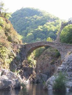 Le Pont de Diable  in the Ardèche near Les Vans - France