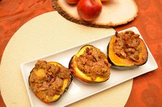 A Healthy Jalapeno: Roasted Acorn Squash with Sausage and Apple Stuffing Apple Stuffing, European Cuisine, Acorn Squash, Avocado Egg, Ecommerce, Sausage, Healthy Lifestyle, Roast, Dinner Recipes
