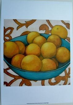 Bowl of Fruit Oranges Art Print, Small Season's Best III, by Megan Meagher   eBay $20.99