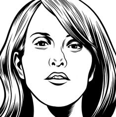 Liz Phair by Charles Burns from the Believer Cover Series at adambaumgoldgallery.com