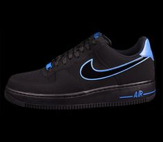 Nike Air Force 1 Low – Black / Photo Blue