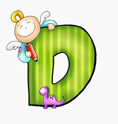 SGBlogosfera. Amigos de Jesús: Abecedarios Fairy Crafts, Kindergarten Learning, Drawing Letters, Letter D, Alphabet And Numbers, Crafts To Make, Smurfs, Clip Art, Fictional Characters