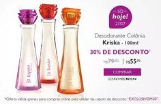 Aproveite esta promoção da Natura e garanta já sua colônia Kriska favorita! #natura #Kriska #perfume #promocao #oferta