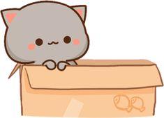 Cute Cartoon Pictures, Cute Images, Cute Bear Drawings, Chibi Cat, Cute Kawaii Animals, Cute Words, Little Panda, Cute Cat Gif, Cool Stickers