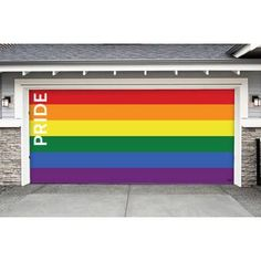 The Holiday Aisle® Ornaments in Snow Garage Door Mural & Reviews Garage Door Christmas Decorations, Garage Door Decor, Garage Door Insulation, Sectional Garage Doors, Wind Damage, Door Murals, Christmas Central, Car Garage, Save Energy