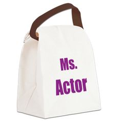 Ms. Actor - purple Canvas Lunch Bag