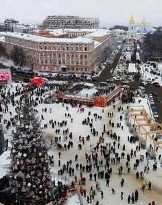 Christmas in Kyiv - Ukraine - (I have a nix for extremely cold places on earth, due to it is days just to stay inside and stay on Pinterest and listen to music and of course Pray!