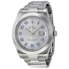 Rolex Datejust II Stainless Steel Rhodium Dial Watch 116300RBLAO