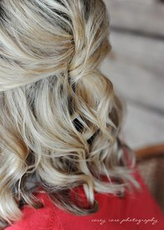 Half French Twist - Mom I also like this one for my hair being down. Maybe something similar to how I wore my hair in my own wedding. Up Dos For Medium Hair, Medium Hair Styles, Short Hair Styles, Updo Styles, Haircuts For Long Hair, Long Hair Cuts, Layered Haircuts, Straight Hair, Pretty Hairstyles
