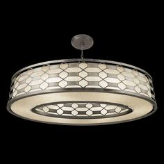 Fine Art Lamps Allegretto Silver Oval Pendant