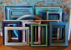 Wooden Picture Frame Gallery Wall Seaside by turquoiserollerset, $159.00