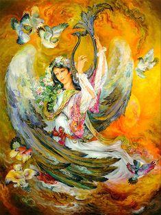 ♥ Iranian Painting by Farshchian