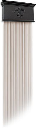 New Window Treatment Option - The V-Sconce Accent Cornice