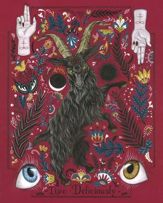 Baphomet, Wicca, Magick, Witchcraft, The Vvitch, Black Phillip, Original Paintings, Original Art, Occult