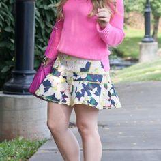 J. Crew Dresses & Skirts - J.Crew floral scuba skirt on Poshmark
