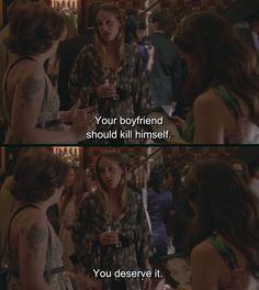 Your boyfriend should kill himself. You deserve it.