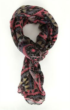 Deb Shops Woven #Scarf with Multicolor #Paisley Print $7.63