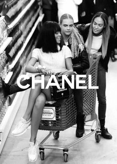 Cara Delevingne and Rihanna get trolley-d at Chanel PFW show