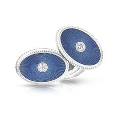 Fabergé White Gold Cufflinks - Boris Diamond Cufflinks feature white round diamonds set in 18 carat white gold.